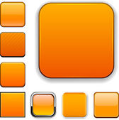 Square orange app icons. — Stock Vector