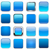 Square blue app icons. — Stock Vector