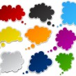 Set of paper color clouds. — Stockvectorbeeld