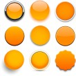 Round orange icons. — Stockvektor