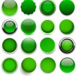 Round green icons. — Stock Vector #27511737