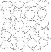 Comic cloud speech bubbles. — Stock Vector