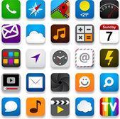 Conjunto de ícones do app. — Vetor de Stock