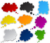 Set of paper color clouds. — Stock Vector