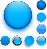 ラウンドの青色のアイコン. — ストックベクタ
