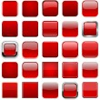 Square red app icons. — Stock Vector #28033143