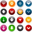 Round color download icons. — Stock Vector