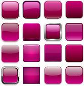 Square magenta app icons. — Stock Vector