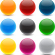 Round colorful balls. — Stock Vector