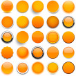 Round orange icons. — Stock Vector #28318983