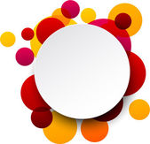 Paper white round speech bubbles. — 图库矢量图片
