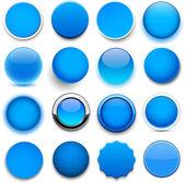 круглая синие значки. — Cтоковый вектор