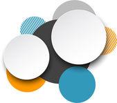 Paper white round speech bubbles. — Stock Vector