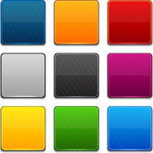 Square color icons. — Stock Vector
