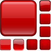 квадрат красный app икон. — Cтоковый вектор