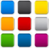 квадратных цвет иконки. — Cтоковый вектор