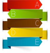 Infographics paper design. — Stock Vector