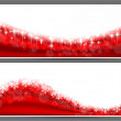 Christmas abstract banner backgrounds.  — Imagen vectorial