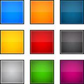 Quadratische farbsymbole. — Stockvektor