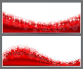 Christmas abstract banner backgrounds. — Stock Vector