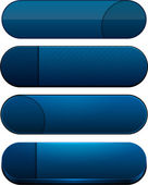 Dark-blue high-detailed modern web buttons. — Stock Vector