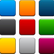 Stock Vector: Square color icons.