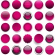 Round magenta icons. — Stock Vector