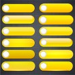 Stock Vector: Yellow high-detailed modern web buttons.