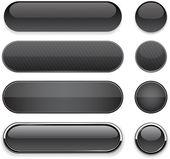 Black high-detailed modern web buttons. — Stock Vector