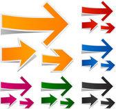 Paper arrows. — Stock Vector