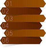 Design papíru infografika. — Stock vektor