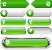 Colección pensamiento alto detalladas web botón. — Vector de stock