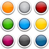 круглый красочные иконки. — Cтоковый вектор