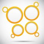 Web bubble background. — Stock Vector