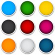 Round colorful icons. — Stock Vector