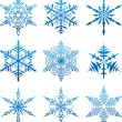 Vector snowflakes. — Stockvectorbeeld