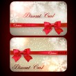 Sale cards with red gift bows. — Stock Vector