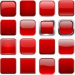 Square red app icons. — Stock Vector #34027691