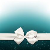 White gift bow. — Vetorial Stock