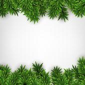 Fir christmas frame. — Stock Vector