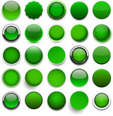 Round green icons. — Stock Vector
