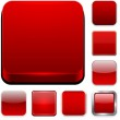 Square red app icons. — Stock Vector #34591247