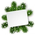 White christmas paper card — Stock Vector