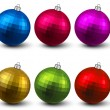 Realistic christmas balls. — Stockvectorbeeld