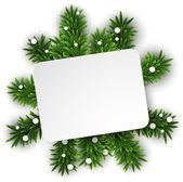 Boże narodzenie biały papier karty — Wektor stockowy