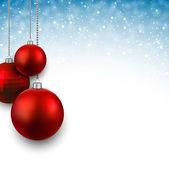 Pozadí s vánoční koule. — Stock vektor