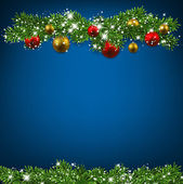 Christmas blue background — Vetor de Stock