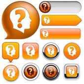Ask web button collection. — Stock Vector