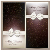 Gift cards with white bow. — Vetorial Stock
