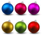 Realistic christmas balls. — Stock Vector